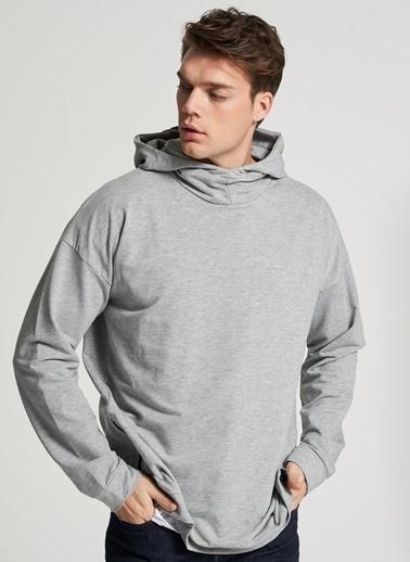 Pi π Kapüşonlu Sweatshirt Gri